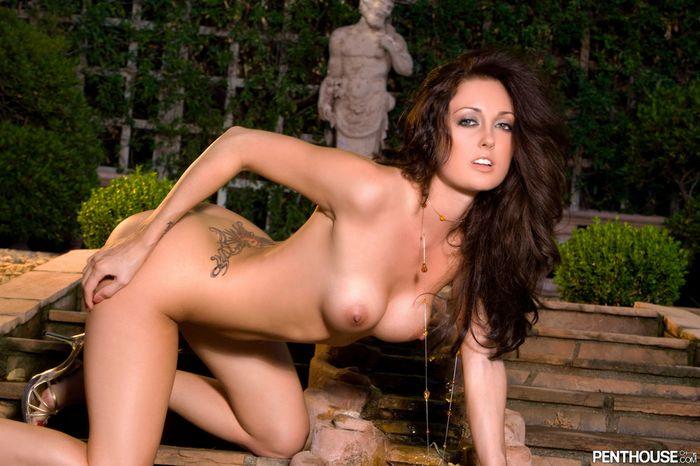 Очаровательные голые телки демонстрируют свои татуированные прелести